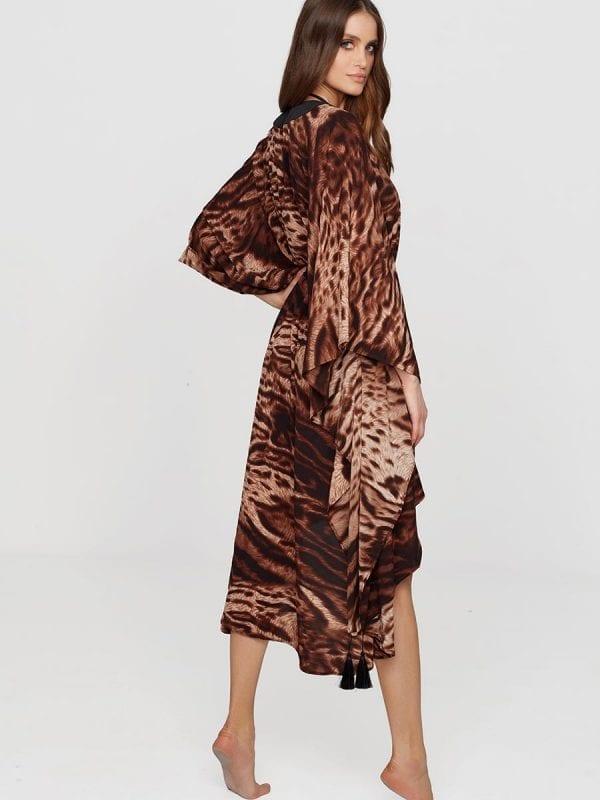 Mystique Long Kimono Safari