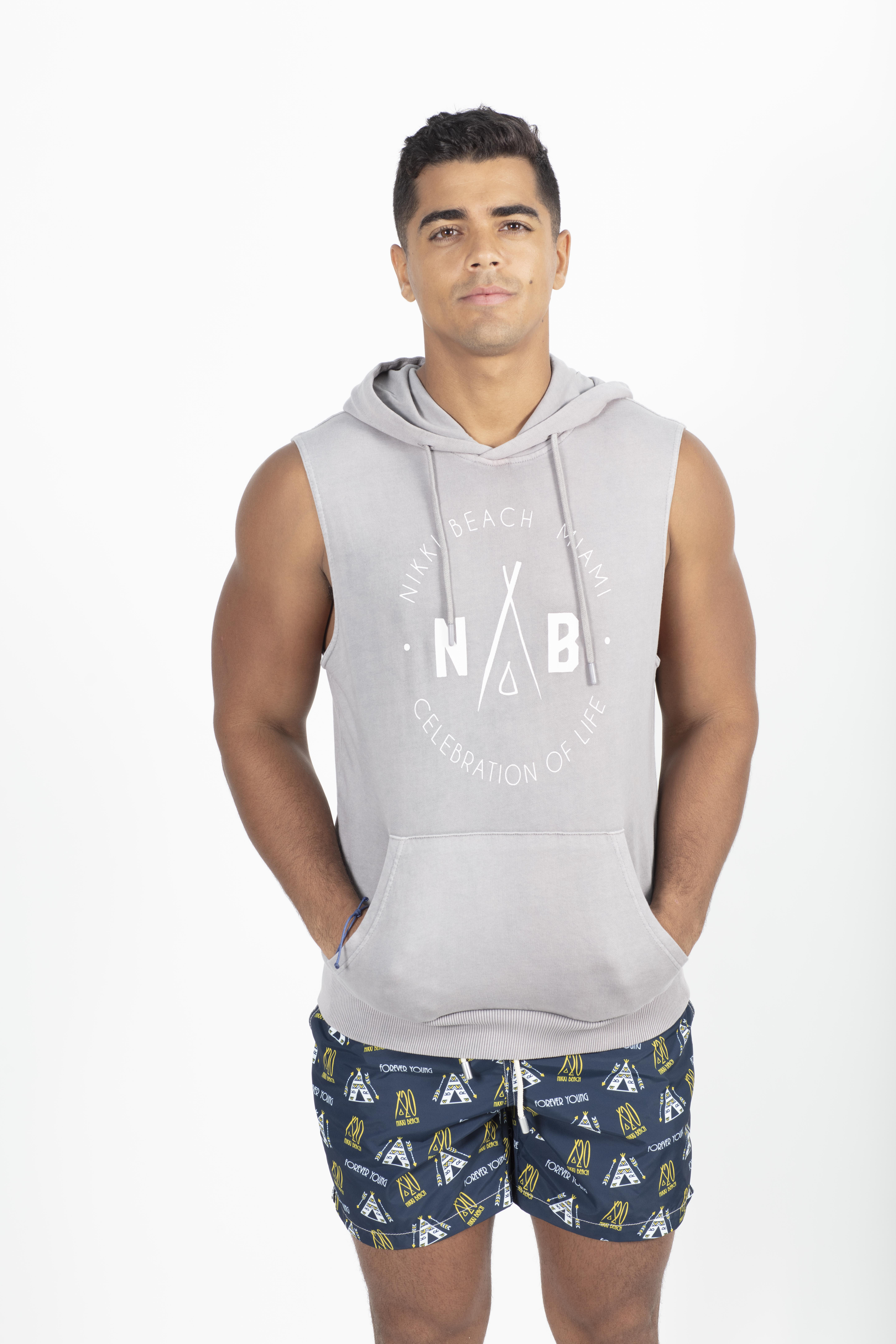 French Terry Sleeveless Hoodie